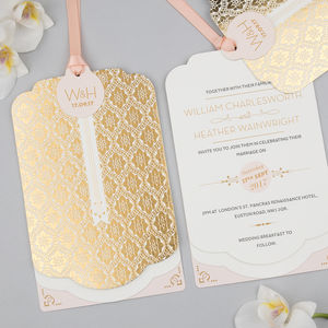 Love Lace Foil Luxe Invitation Suite - invitations