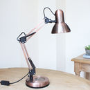 Copper Hobby Desk Lamp