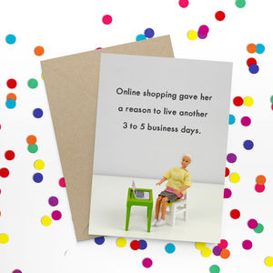 Online Shopping Funny Card