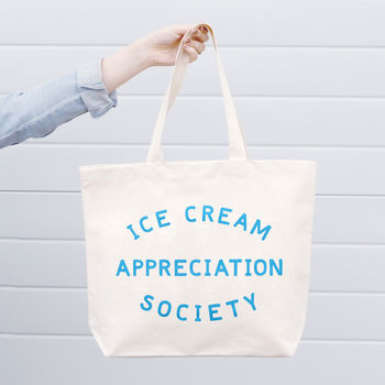 'Ice Cream Appreciation Society' Canvas Bag