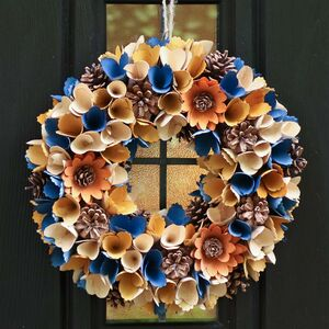 Winter Blooms Eco Floral Wreath