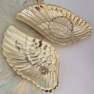 Gold Angel Wing Trinket Dishes