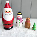 Santa Babushka Russian Doll Set