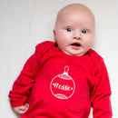 Personalised Christmas Bauble Babygrow