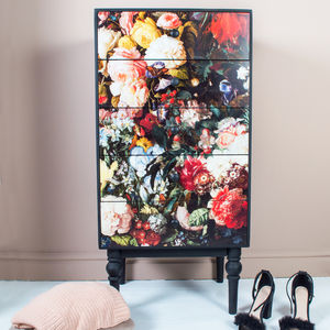 Floral Romance Five Drawer Cabinet - home sale
