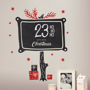 Write And Erase Christmas Countdown Wall Sticker