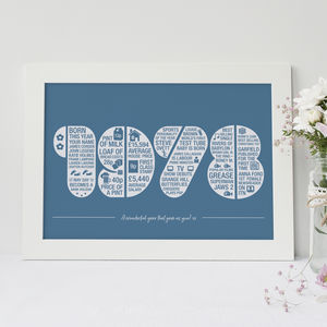 Personalised 40th Birthday Print - 40th birthday gifts