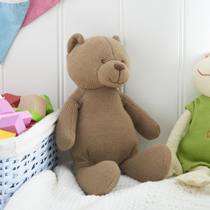 Knitted Brown Bear - soft toys & dolls