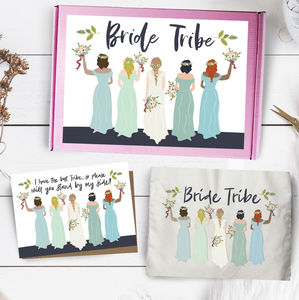 Bride Tribe Team Bride Tote Bag Card Gift Set