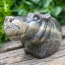 Stone Hippo Ornament