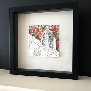 Iconic London Paper Cut With Liberty Print Background