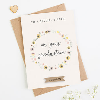 Sister Graduation Card Personalised