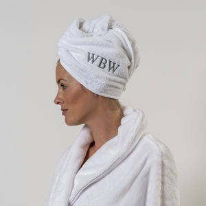 Personalised Hair Towel - bed, bath & table linen