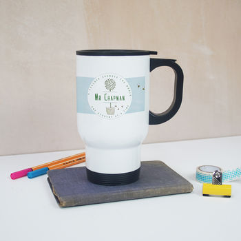 Personalised 'Wallpaper' Teacher's Gift Thermal Mug