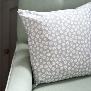Grey Gooseye Cushion - what's new