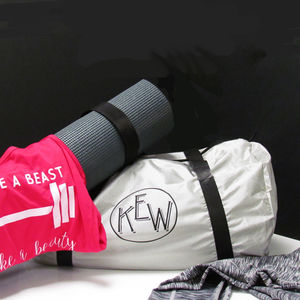 Adult Monogrammed Personalsed Gym Bag - yoga