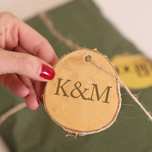 Personalised Natural Birch Wood Gift Tag
