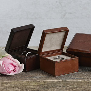 Personalised Ring Box - jewellery storage & trinket boxes