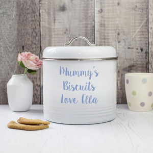 Personalised Biscuit Barrel - personalised gifts