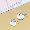 Personalised Silver Heart And Infinity Necklace