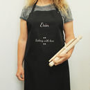 Personalised Adult Baking Kit And Apron