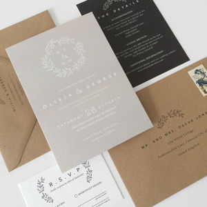 Laurel Wedding Invitations - invitations