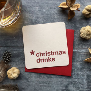 Christmas Drinks Coaster Invitations - invitations