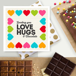 Send Love, Hugs And Chocolate Card