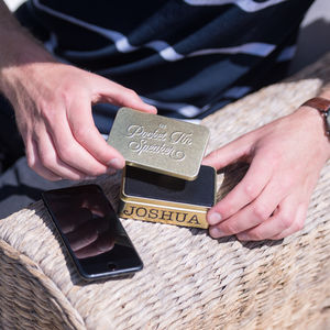 Personalised Gold Wifi Pocket Speaker - gifts for him