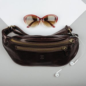 Luxury Italian Leather Bum Bag. 'The Centolla' - men's accessories