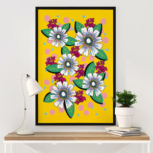 Floral Graphic Illustrated Art Print