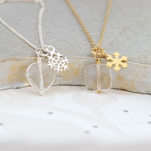 Sterling Silver Snowflake Charm Necklace