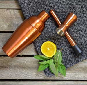 Copper Cocktail Shaker - drink & barware
