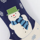 Personalised Boys Snowman Stocking