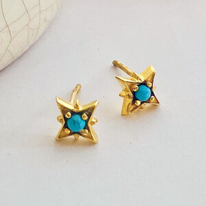 Turquoise Star Stud Earrings