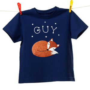 Sleeping Fox Personalised T Shirt