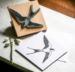 Swallow Stamp - wedding favours