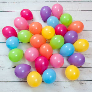 Pack Of 28 Pastel Rainbow Mini Balloons