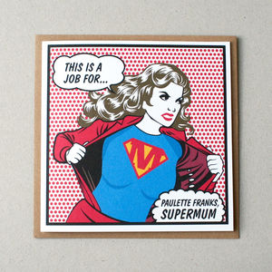 'Supermum' Personalised Card