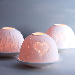 Luna Porcelain Tea Light Holder