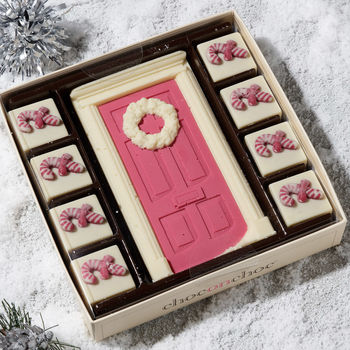 Chocolate Door With Candy Canes