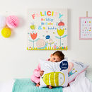 Children's Personalised Pastel Bugs Canvas Print
