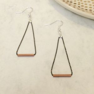 Copper Dash Earrings - earrings