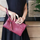 Chiswick Leather Mini Bag Berry Pink
