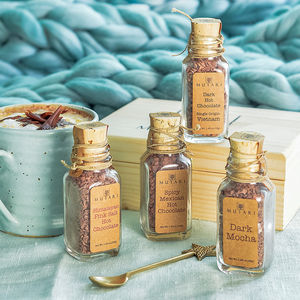 Organic Hot Chocolate Selection In Wooden Gift Box