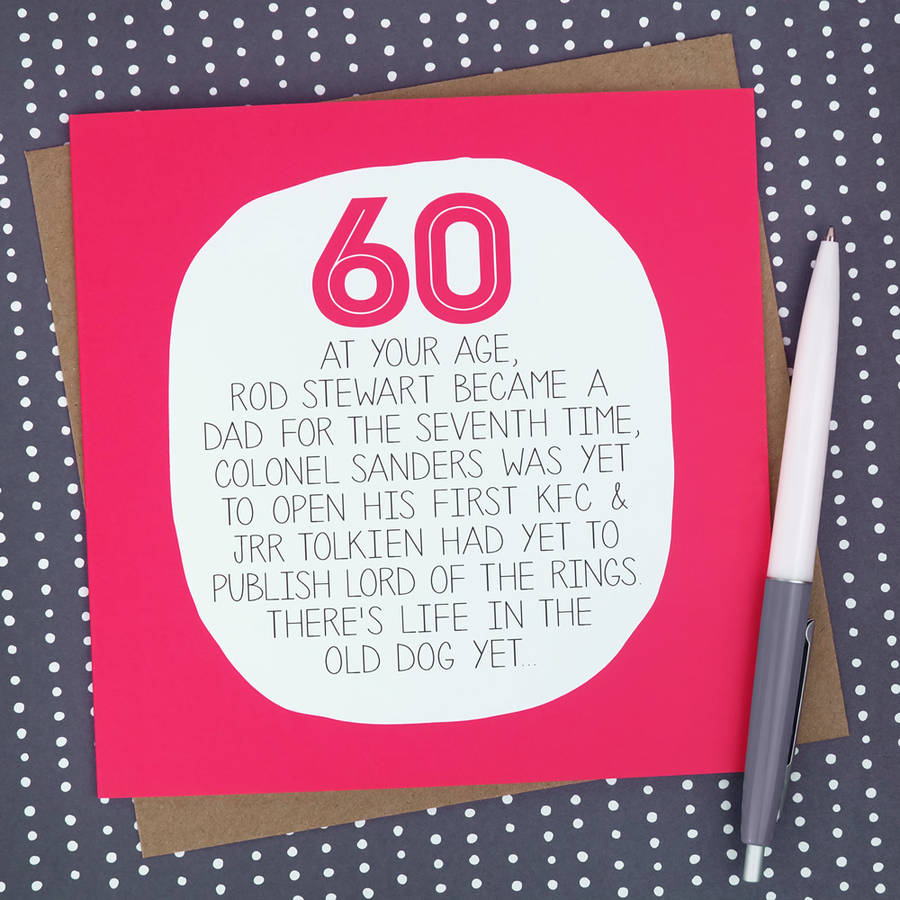 By your age funny 60th birthday card by paper plane funny 60th birthday card bookmarktalkfo Choice Image