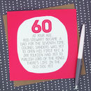 By Your Age… Funny 60th Birthday Card