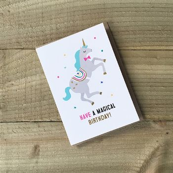 Birthday Card Unicorn