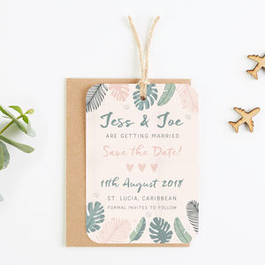 Tropical Pastel Save The Date