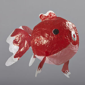 Red Fish Paper Balloon